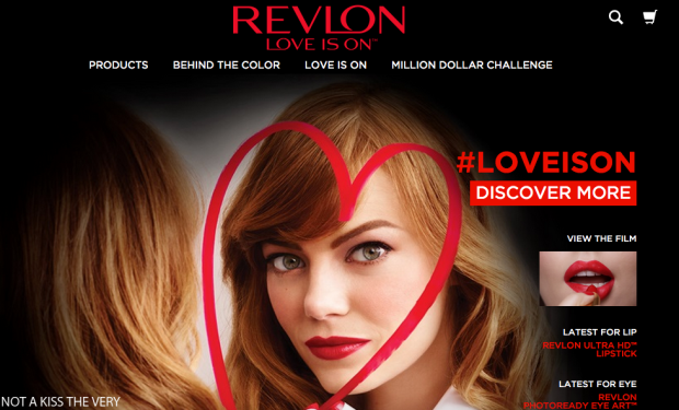 Revlon love is on website