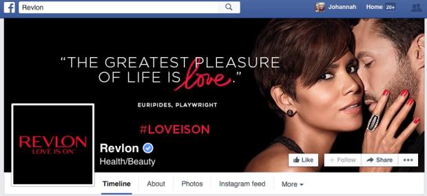 Revlon Facebook Page