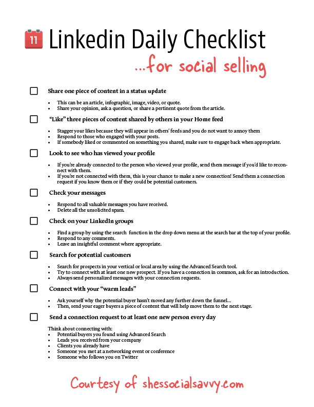linkedin-daily-checklist